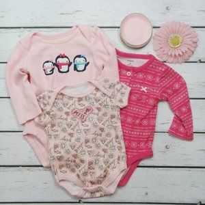 Betsey Johnson Bundle Of 4 Onesies Size 3 Months